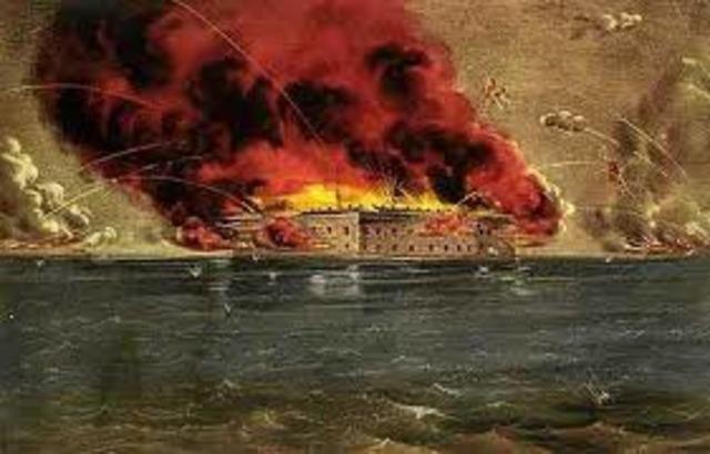 Battle of Fort Sumter S.C.