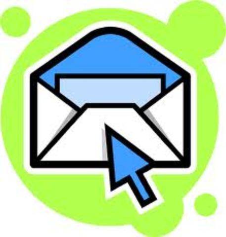 Se envía el primer correo electrónico o e-mail