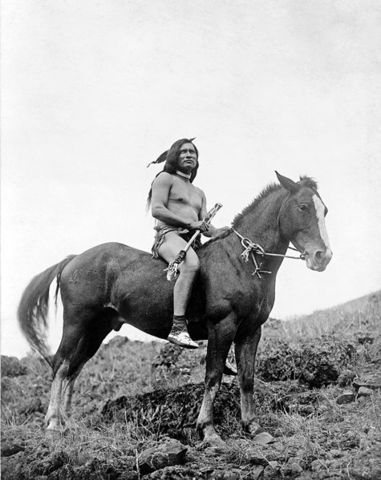 Lewis comes across a single, mounted Indian.