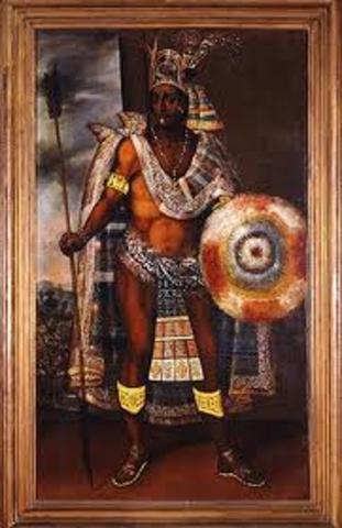 Moctezuma invites Cortes