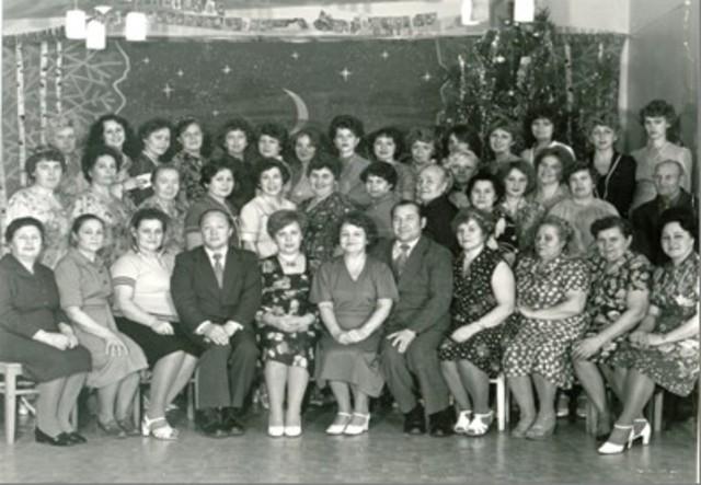 Коллектив детского сада в 1982 г.
