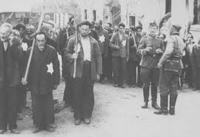 Romania passes law condemning adult Jews to forced labor.