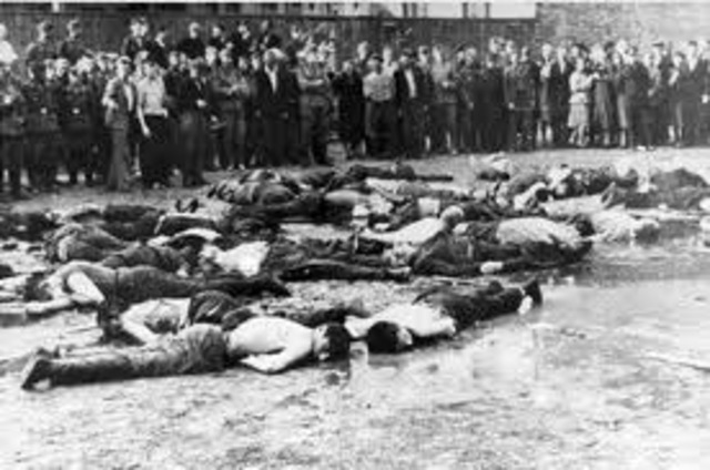Nearly 34,000 Jews are murdered by mobile killing squads at Babi Yar, near Kiev in the Ukraine.