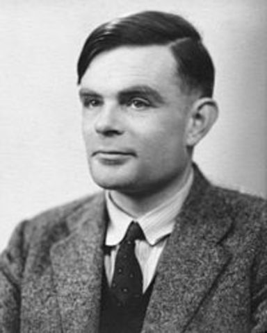 Alan Turing develops the concept of a theoretical computer machine