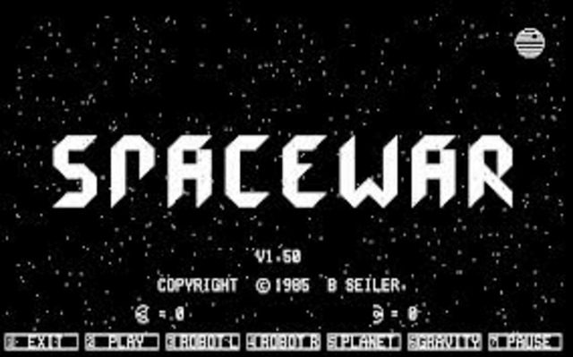 The first computer game Spacewar Computer Game invented by Steve Russell and MIT