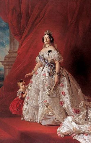 Beginning of the reign of Isabel II