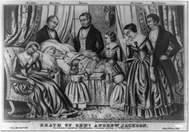 Andrew Jackson died