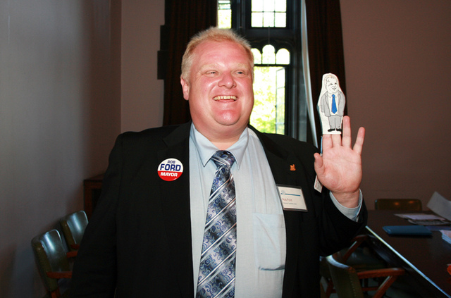 Rob Ford files to be a candidate in 2010 election