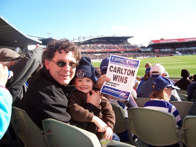I started to support the Carlton footy club