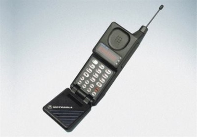 the first flip phones