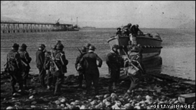 British forces land in Narvik, Norway