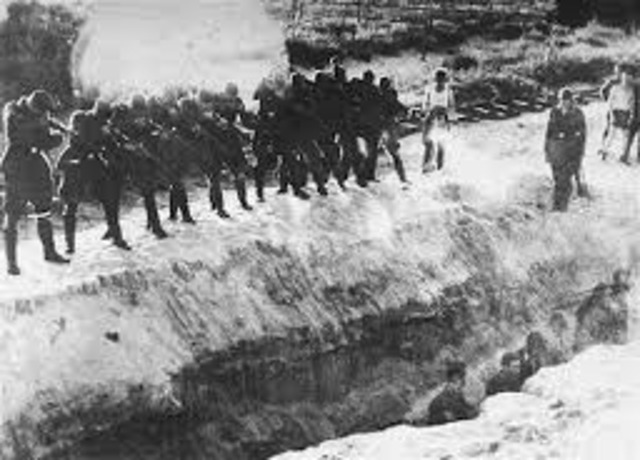Killing Squads murdered 34,000 Jews