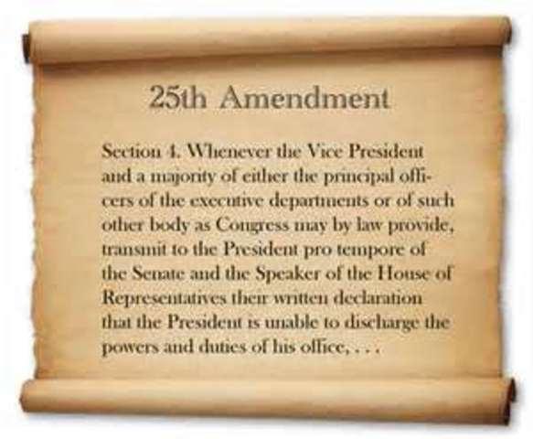 25th amendment