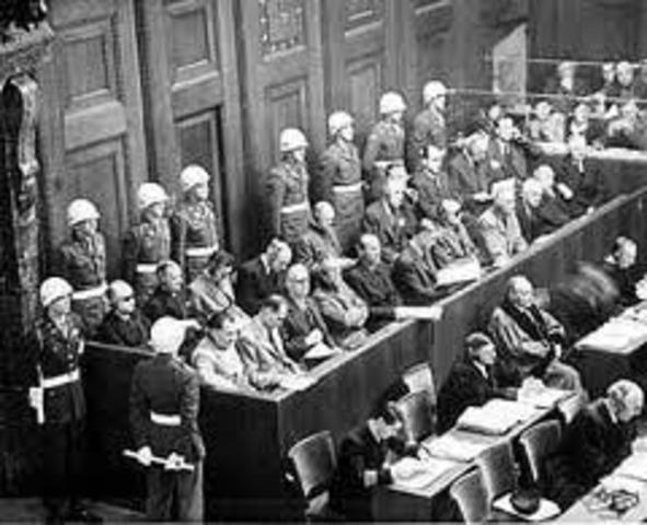 The war crimes tribunal is convened at Nuremberg, Germany