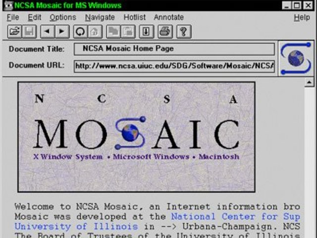 NCSA release the first World Wide Web browser.