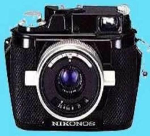 Underwater camera introduced by Nikonos.