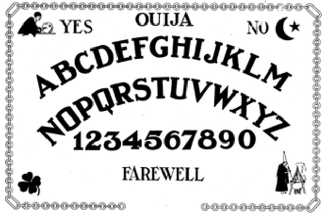 The development of the Ouija board game