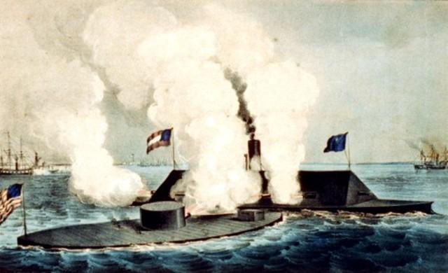 Battle Between Ironclad Ships