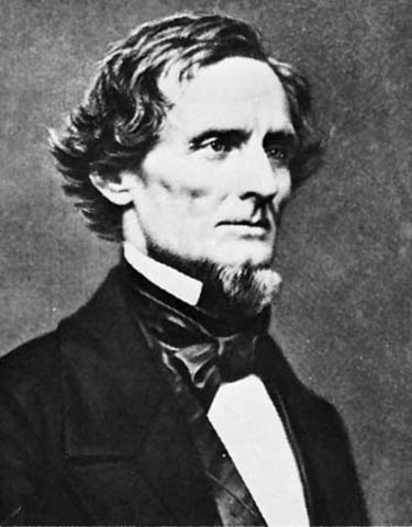 Jefferson Davis, new president of CSA