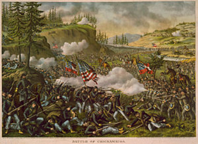 Confederates win battle at Chickamauga