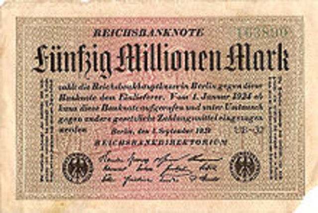 Hyperinflation in the Weimar Repbulic