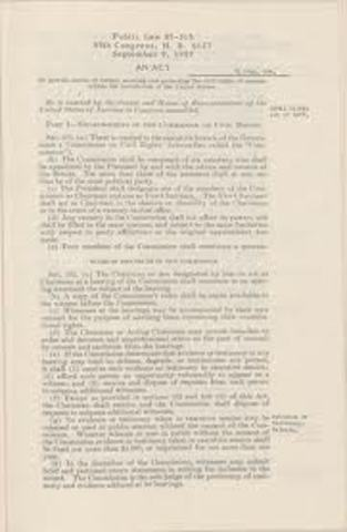 Civil Rights Act 1957