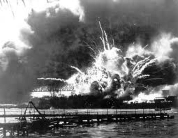 Japan attacks Pearl Harbor.