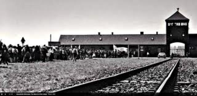 "Nazi ""extermination"" camps located in occupied Poland at Auschwitz, Birkenau, Treblinka, Sobibor, Belzec, and Majdanek-Lublin begins mass murder of Jews in gas chambers."