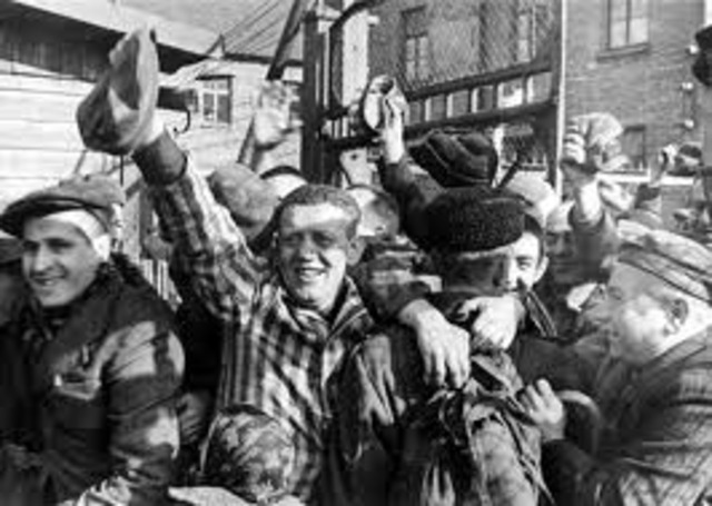 Auschwitz gets liberated