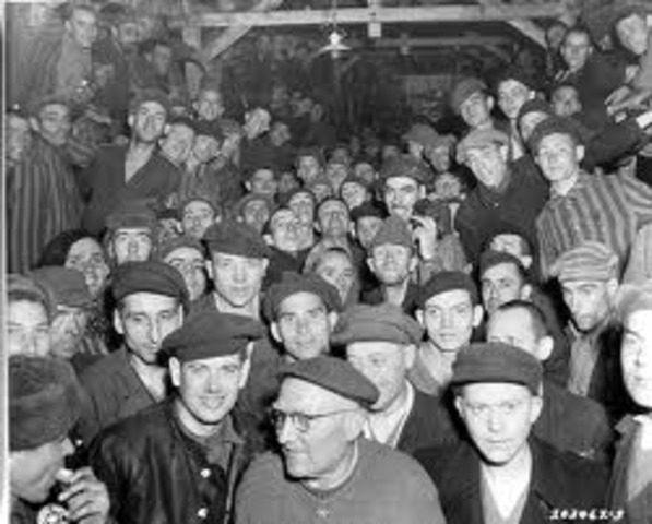 The U.S. troops liberated the camp survivors.