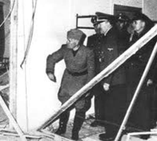German officers fail and are caught in an attempt to assassinate Hitler.