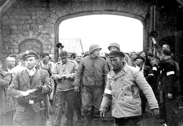 Troops from teh United States liberate Mauthausen concentration camp.