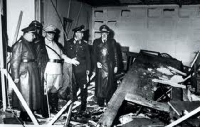 German officers fail and are caught in an attempt to assassinate Hitler
