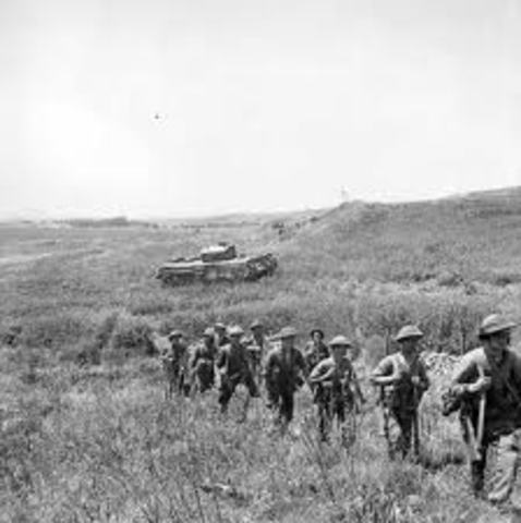 The German army invades North Africa.