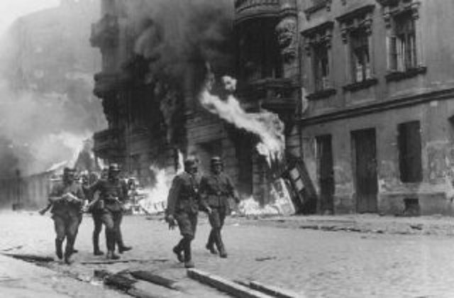 16 Jews in teh Warsaw ghetto initiate resistance to deportation by the Germans to the death camps.