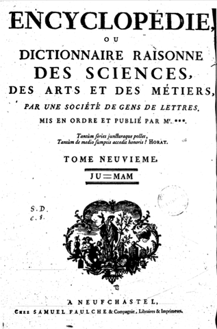 Encyclopédie de Diderot et d'Alembert