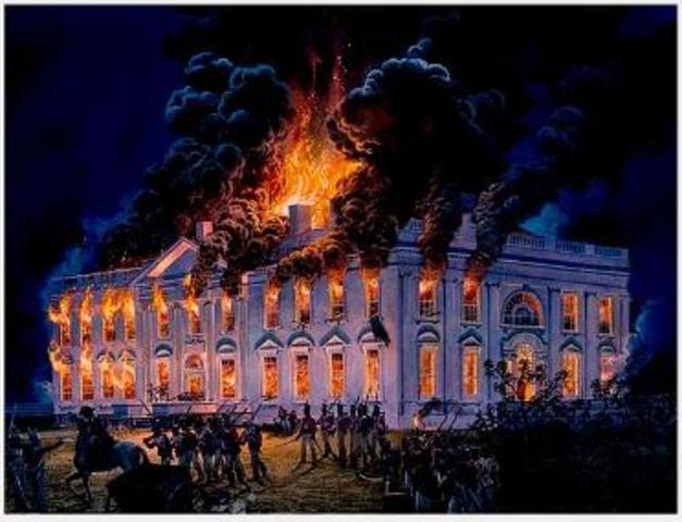 The White House is Burned