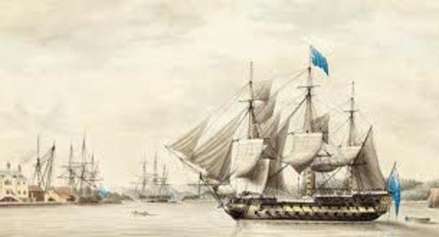 Britian Blockades American Ports