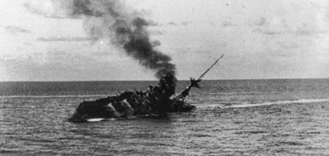 British sinks Italian fleet