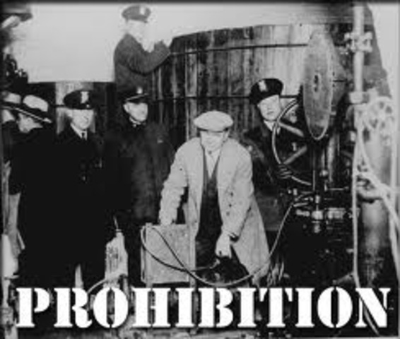U.S.A - Start of the prohibition.