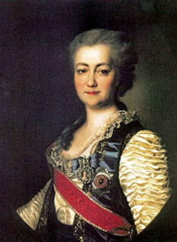 Dîner en honneur à la princesse Dachkova