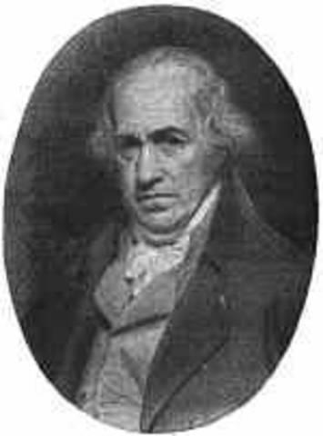 James Watt designs a more efficient steam engine