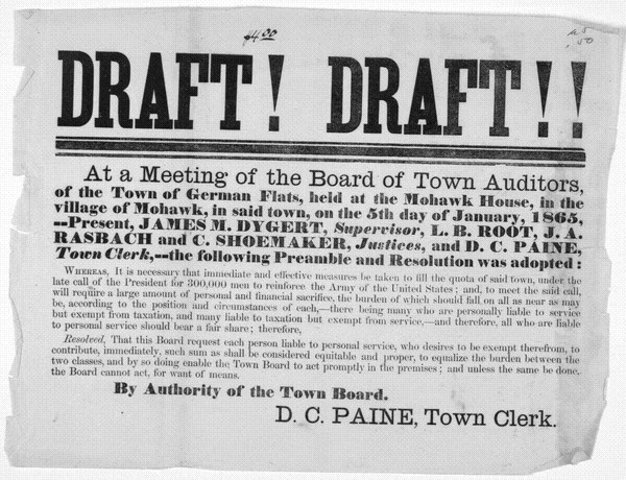 Lincoln issues first draft law
