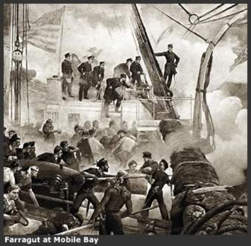 Admiral David Farragut captures Mobile Bay