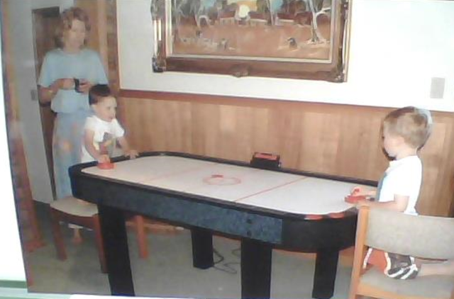 played my first game of air hockey