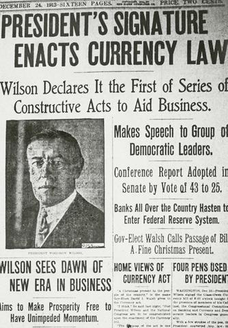 Federal Reserve System established