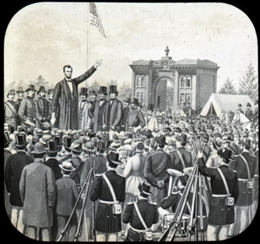 Lincoln give Gettysburg adress.