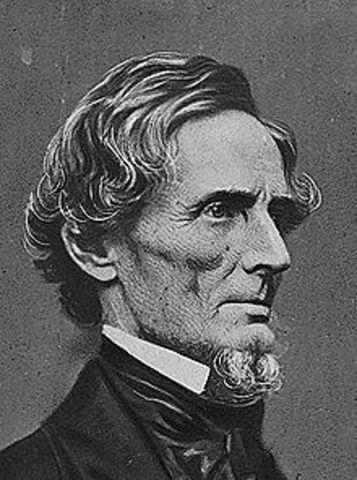 CSA president Jefferson Davis is captured