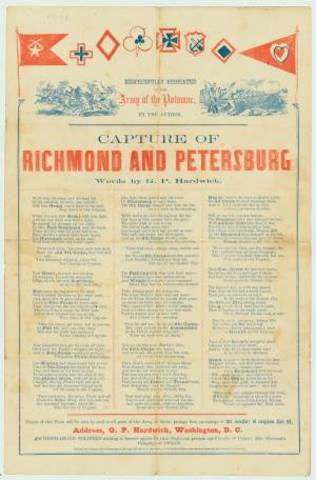 Federals take Petersburg and occupy Richmond