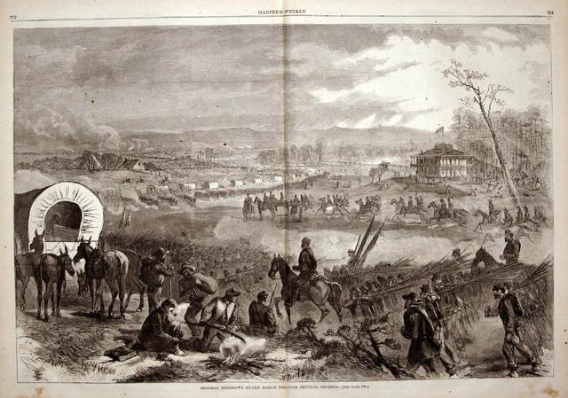 Sherman's troops begin march through Georgia.